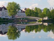 Вид на Троицкое предместье и мост через реку Свислоч