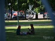 В парке в центре города