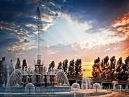 Фонтан в Парке Первого Президента Республики Казахстан