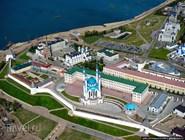 Вид на Казанский кремль с высоты