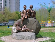 """Скульптура """"Счастливое детство"""""""