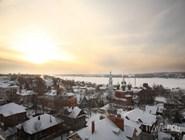Зимняя панорама Костромы