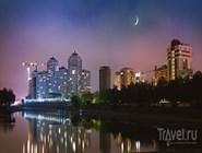 Набережная Кубани ночью