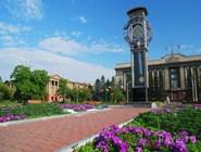 Часы на красноярской площади
