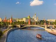 Вид на Москву-реку и московский кремль