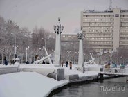 Новороссийск под снегом