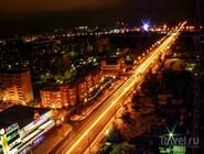 Ночной вид на ул. Чапаева