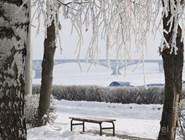 Саратовская набережная зимой