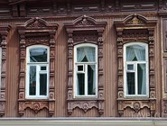 Резные окна дома Буркова