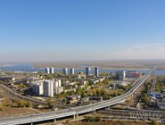 Вид на мост с центра Волгоград-сити