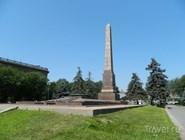 Вечный огонь на площади Павших Борцов
