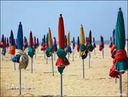Пляж в Довиле, Франция