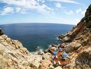 Пляж отеля на Сардинии, Италия