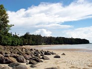 Пляж на острове Барнео, Малайзия