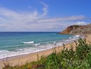 Пляж Burgau в Алгарве, Португалия