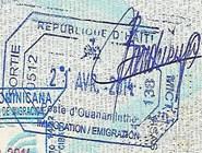Выездной штамп Гаити