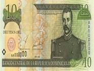 RD$10 аверс, 2000-2001