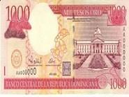 RD$1000 аверс, 2000-2001