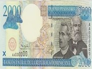 RD$2000 аверс, 2000-2001