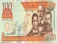 RD$100 аверс, 2002