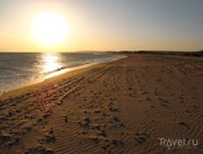Закат на пляже в окрестностях Веселовки