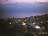 Побережье Сан-Ремо в полночь