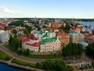 Вид на город со смотровой площадки замка
