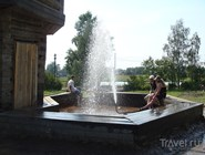 Фонтан с минеральной водой в Сольвычегодске