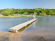 Озеро в Голубицкой, на дне которого находится целебная иловая грязь
