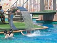Гидромассажный фонтан в аквапарке Город Солнца в Пятигорске