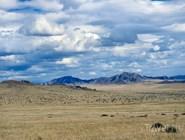 Тува. Степной пейзаж в сторону границы с Монголией