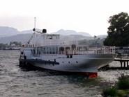 Корабль на озере Траунзе