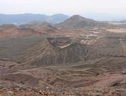 Действующий кратер вулкана Асо