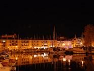 Пристань в Градо ночью