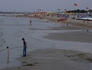 Пляж в Триесте во время отлива