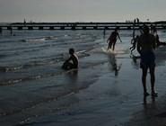 Вечерний пляж в Триесте