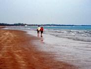 Пляж Cavallino в апреле