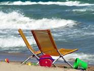 Ветренный день на пляже Sant Antonio