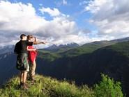 На вершине безымянной горы у с. Чибит