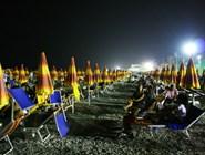 Пляж Spiaggia Lido ночью