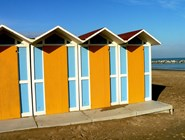 Пляжные кабинки в Пезаро