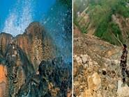 Один из самых красивых и больших щитов был у гейзера Сахарный. Теперь его покрывает десятиметровый слой грязи и камней. Фото автора