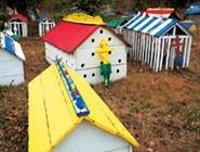 «Христианско-языческое» (официально, конечно же, сугубо христианское!) туземное кладбище в Эклутне