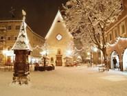 Снежная ночь в Валь-Гардене