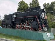 Памятник паровозу в Коломне