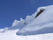 Снежный покров ледника Монте-Роза