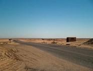 Дорога к оазису Бахария по Ливийской пустыне