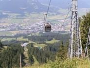 Вид на город с гондолы Harschbichl