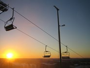 Закат над курортом Химос