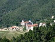Вид на скит и виноградники Афона
